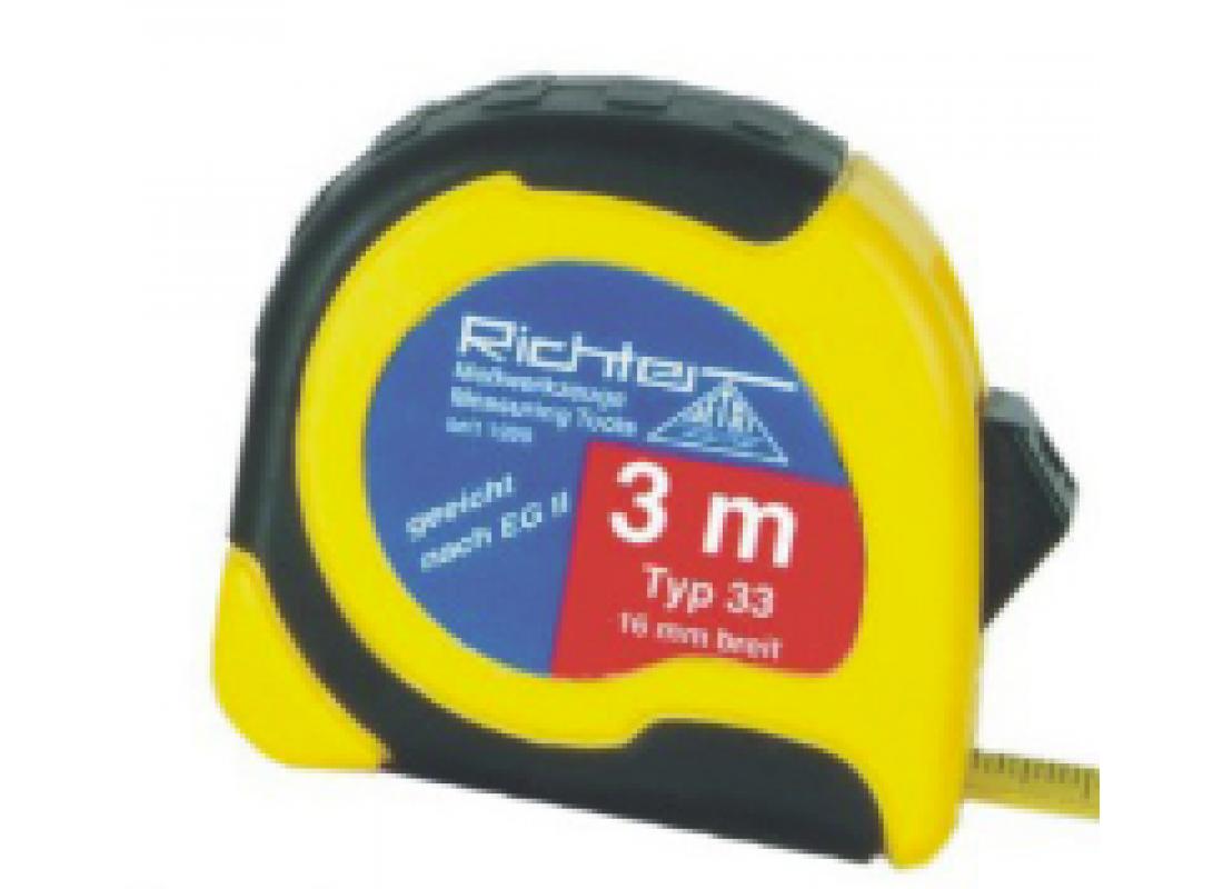Taschen-Rollbandmaß gelb 3 m