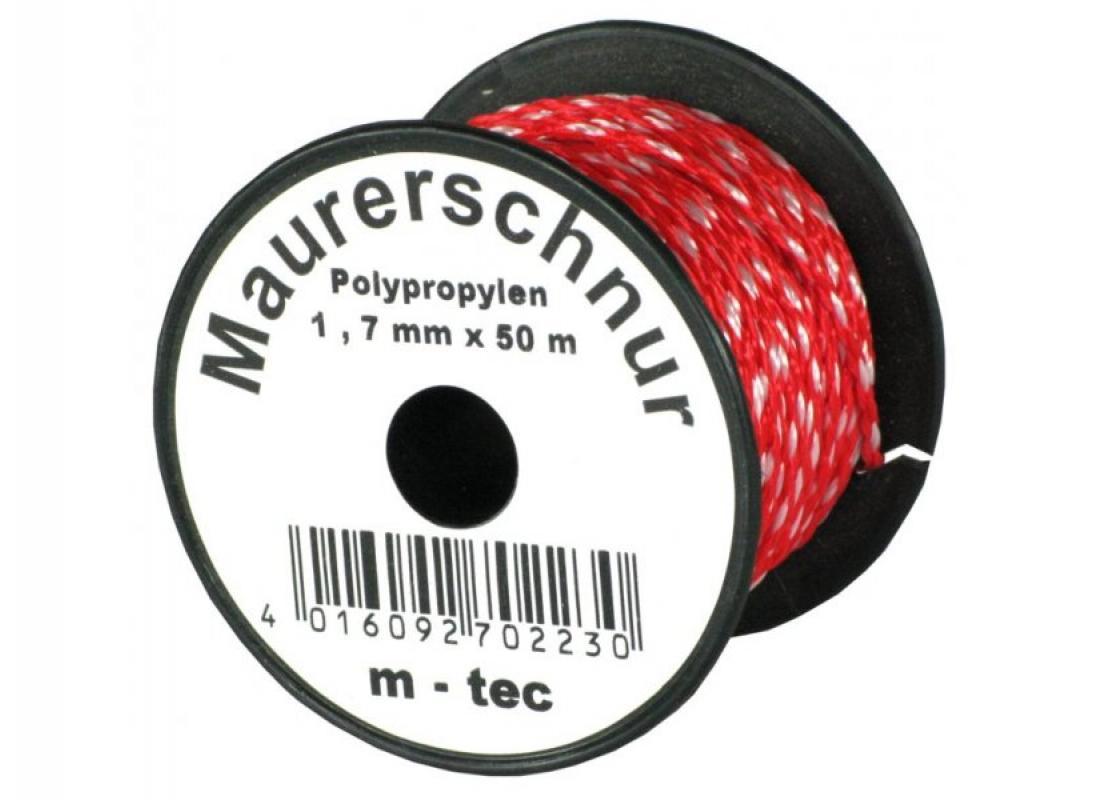 Lot-Maurerschnur Poly 1,7 mm rot Rolle/ 50 m #70223