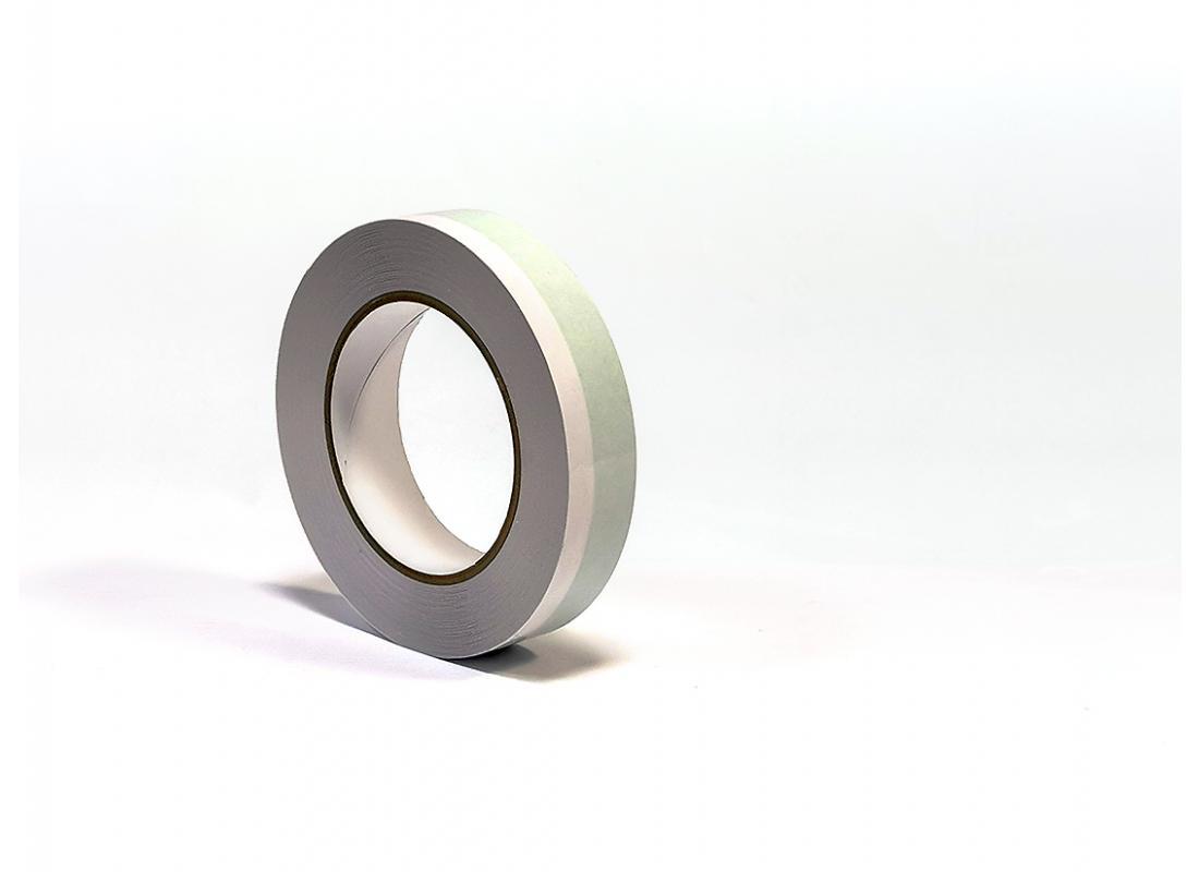 Double-Tape 25 mm x 25 m grün/weiß, neutraler Kern