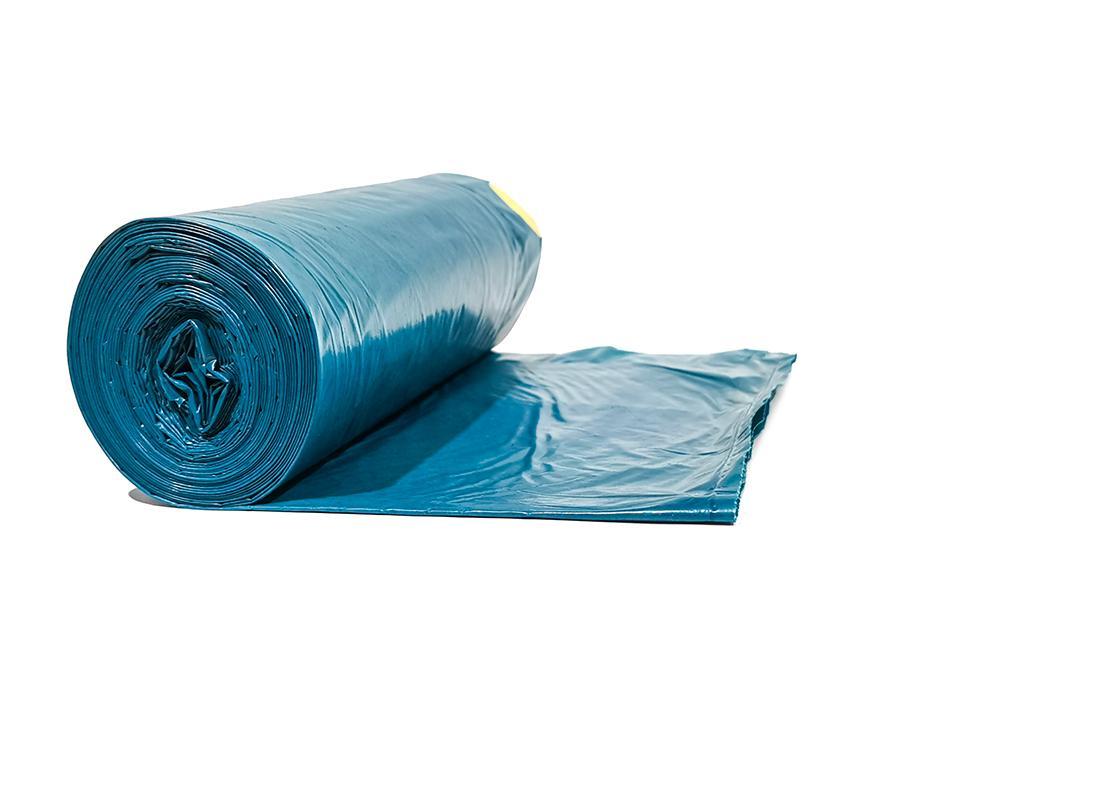 Müllsäcke blau 70 x 110 cm 10 Stück /Rolle, Typ 85, 120L