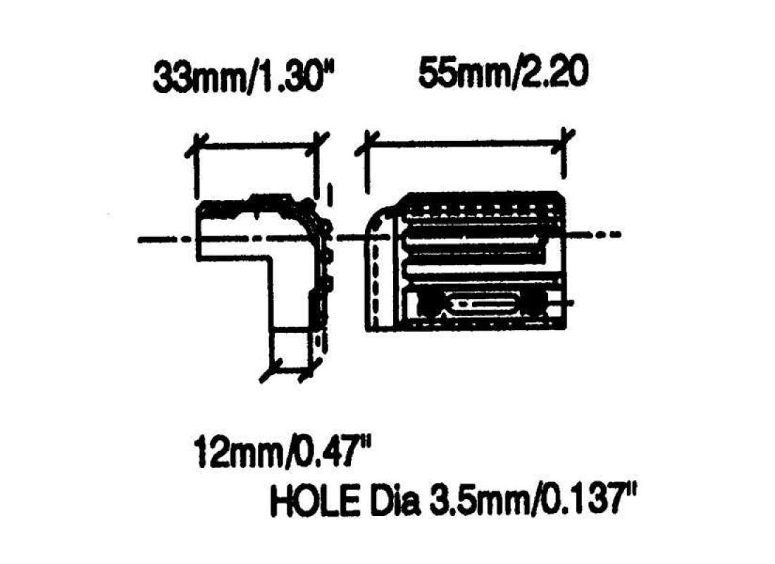 Kunststoff Stapelecke, 55 x 33