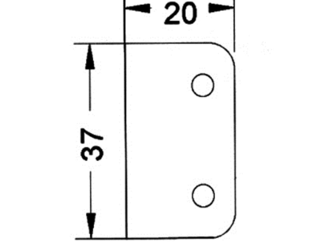 Schließwinkel 20 x 37 mm